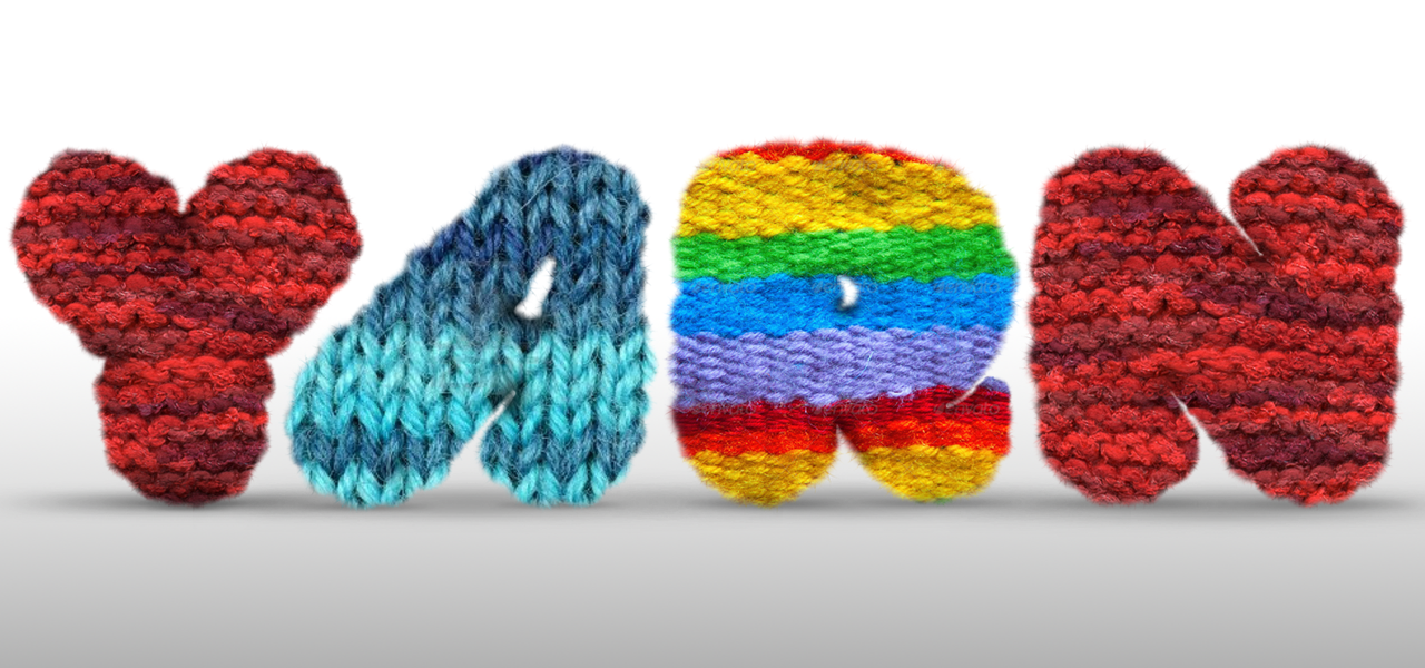 3D Image of the word Yarn